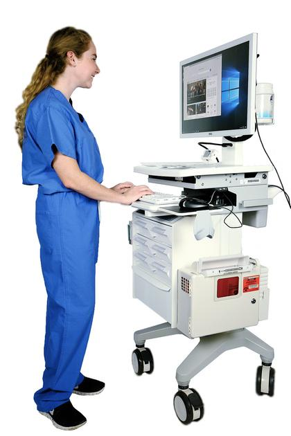 Hospital Medical Computer Carts on Wheels