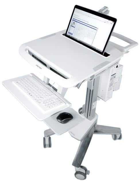 Mobile Laptop Cart with Storage