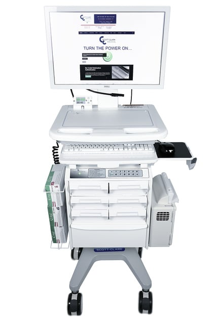 Secure storage drawer medical cart